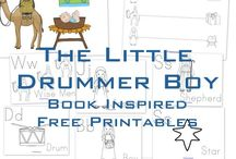 Little drummer boy winter learning / School and celebration / by Hero Training School