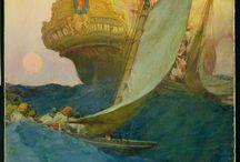 Howard Pyle / Born in Wilmington, DE, Howard Pyle was one of America's most popular illustrators and storytellers. His illustrations appeared in magazines such as Harper's Monthly and Collier's Weekly, and he gained international exposure. Pyle was both a prolific illustrator and a teacher whose work represents the rich Brandywine School tradition in American art. After his 1911 death, a group of citizens purchased the work remaining in his studio and founded today's Delaware Art Museum. / by Delaware Art Museum