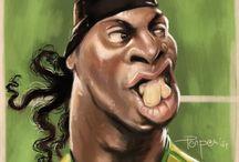 soccer stars in caricature / by Vay Xu
