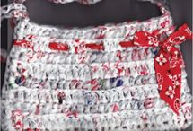 Plarn / Recycled grocery bags repurposed into something useful / by Margaret Lacey