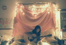 The bedroom I will never have... / ...but will often dream of (in my actual bedroom) / by Amy Martin