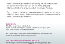 UTEP Arts / UTEP has a robust arts program that includes music ensembles, theater and dance recitals, and art galleries that showcase student and faculty works. / by UTEP
