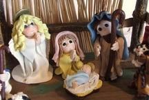 Clay nativity & Noah's Ark / by Esther Martinez