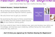 Webinar Presentations / Sign up today for one of our exciting and NEW webinar presentations at www.fashionsewingblog.com / by Fashion Sewing Blog