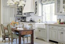 French Design Style / An ornate, fanciful and decorative style is characteristic of this look. Colors range from rich, sun-drenched Mediterranean hues to softer, muted shades. Often, one color or fabric is repeated throughout the space. It's characterized by rich details and extensive use of gold, bronze and gilt. Antique or heirloom furniture, layered dramatic window treatments and abundant fresh flowers fill out a French home. / by Schumacher Homes