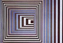 """OP art / Histoire des arts : XXème siècle / Op art ou """"Art optique"""", est un terme utilisé pour décrire certaines peintures faites à partir des années 1960 et qui jouent essentiellement sur les effets d'optique que peuvent engendrer certaines formes ou certaines couleurs.  / by Valérie WINTZ"""
