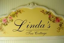 LINDA'S TEA COTTAGE / THIS IS MY TEA ROOM. / by Linda Miller Woodward