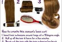 How - to styles with long hair extensions. / Not only a how-to for hairstyles, a how-to for extensions. Sometimes, having extensions can make it a little difficult to create different hairstyles. These styles are easy to create with clip in hair extensions. / by My Fantasy Hair Extensions