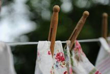 Clotheslines / by Judy ♥ daily yarns