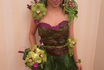 """Floral Couture Event- Dress made out of flowers / This was our 1st place entry in the March 2013 event """"Floral Couture"""" at the Mystic Marriott~ designed by Christy Langone AIFD, Heather Sullivan AIFD and Peter Soule / by Durocher Florist"""