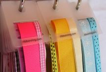 Ribbon Storage Ideas / We LOVE ribbon. Here are some of our favorite ways to keep our ribbon organized. We also have found other projects to do from blogging friends. Bowdabra - www.BowdabraBlog.com or www.Bowdabra.com / by Bowdabra @BowdabraBlog.com