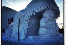 Sculptures de neige - Snow Sculptures / by Festival du Voyageur