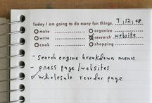 planner page peeks / by Belén