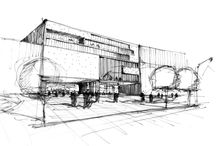 Architecture - Drawing / A collection of architectural sketches and drawings / by Tom Parker