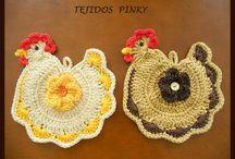 tejidos / a crochet / by Elva Recio