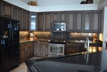 Custom Kitchen & Living Room Cabinetry / A Custom Kitchen Cabinetry Project Here In Southwest Florida!  / by Cornerstone Builders