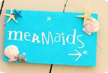 Party: mermaid+  / Ideas for a 5 year old birthday party in the afternoon to a twenty- something's birthday evening / by Crystal Miller