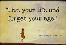 ¨`*•✿ Forget Age & Live A Vibrant Life¸.•´ / It sounds like a cliche but age truly is a number showing how many times we've been around the sun. The capacity to live a long, strong and vibrant life is possible. This board pins ideas about how to embrace each passing year as the gift life truly is. It is never too late to be great or create fresh beginnings at any age and stae of life.  / by Coralie Raia Writing Road