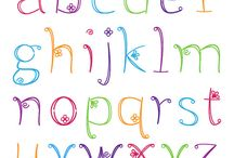 letter fonts / by Cynthia Choate