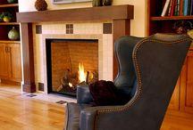 Living room craftsman fireplace ideas / by Jon Jenkins