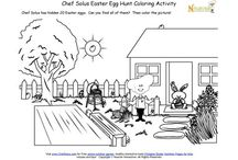 Easter Printables / Healthy Easter themed printables for preschool and elementary school aged children. / by Nourish Interactive