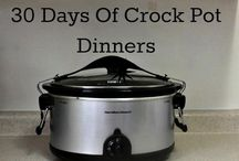 30 Days Of Crock Pot Dinners / I have teamed up with a bunch of bloggers to bring you 30 Crock Pot recipes. It's summer time! No need to spend time in the kitchen making dinner. Plus you don't have to heat up the kitchen!  / by Saving You Dinero