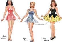 Paper Dolls: 50's Famous People / A collection of paper dolls of famous people for my grand daughter Anna. She has Autiism and things like this help her when she cuts them out, makes up stories, etc.  / by Cheryl Darr