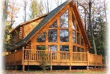 Log homes and cabins / by Betsy Craig