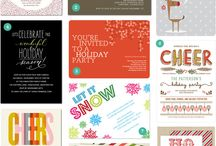 Holiday Party Invites / by Rochelle Aiken
