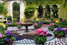 puttering on the patio & pretty garden pools / by Kristen Ayers