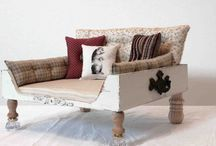 Let Sleeping Dogs Lie! / Ideas for our fur children's beds. / by Eugenia LaVonne Jackson