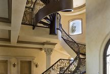 Home: stairs, fun archtecture, secret rooms / Stairs, treads, stairway, spiral staircase, staircase, secret room, secret door / by Pam Good