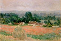 """Claude Monet / Claude Monet (1840-1926) was a French Impressionist painter and a founder of French impressionist painting. The term Impressionism is derived from the title of his painting: """"Impression, soleil levant"""". / by Alejandro Fischer"""