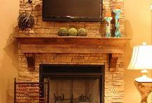 Fireplace surround / by Kelli Wright