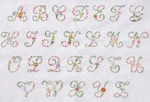 Alfabetos...Letras...Monogramas / Monograma é a sobreposição, agrupamento ou combinação de duas ou mais letras ou outros elementos gráficos para formar um símbolo. Monogramas frequentemente são construídos combinando as letras iniciais do nome de uma pessoa ou empresa e podem ser usados como símbolos ou logos. Acredita-se que os primeiros monogramas foram usados em moedas, por volta de 350AC.  / by Juçara Medeiros