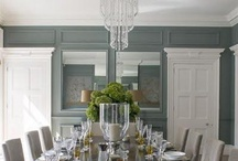 Delicious Dining Rooms / chandeliers, chairs, dining tables and dining room drapery / by Emily Ruddo
