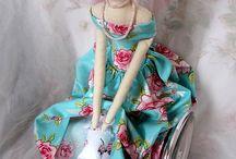 DIY cloth dolls animal Tilda doll / Cloth dolls,Bunnies,bears,cloth animals,Tilda doll / by Danielle Susman
