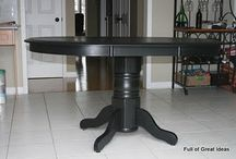 ideas for refinishing my dining room table / by Michelle Herrin