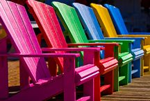 Adirondack chairs / Best place to sit / by Gwen