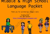 Speech and Language with Middle Schoolers / Therapy ideas, activities, games, printables and more for our middle school students.  / by Sherri Clifton