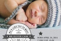 Birth Annoucements / Fully customizable birth announcements for baby boys, baby girls.  Include your photos, colors, and font choices. / by Basic Invite