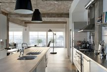 Industrial Kitchens / Industrial kitchens are built to last. Create your own industrial-style kitchen using sturdy, long-lasting kitchen cabinets from www.stockcabinetexpress.com! / by StockCabinetExpress