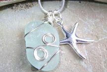 Seaglass jewelry / by Nicki LaPorte