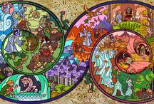 Stained Glass inspired art / by Alexis Droke