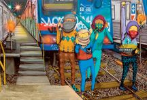 Os Gemeos(the twins) - Graffiti / Os Gemeos(the twins) -  Grafitti from Brasil.  / by Gustavo Dordetto