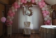 Quinceañera Party Backdrop Set-Up / Picture samples from the how-to guide posted on our website's Custom Orders page. / by Generation Store