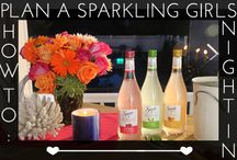 How To: Plan A Sparkling Girls Night In / From fruit infused water to delicious appetizers, we'll show you how to plan the ultimate sparking girls night in.  / by Glam