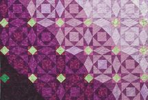 Quilt - secondary pattern by color & arrangement and optical illusion  / by Glass Quilt