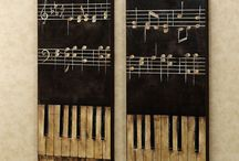 Piano keys artwork inspiration - the day the music died / by Judy Lyman