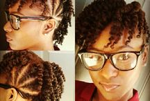 Styles & Concoctions for my Natural Mane / Curr natural hairstyles for medium to shoulder length hair. / by Risha